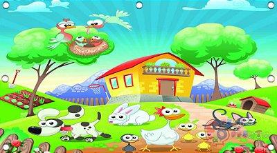 Painel para decoração de festa infantil - Fazendinha