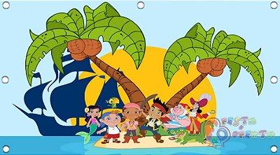 Painel para decoração de festa infantil - Jake e os Piratas