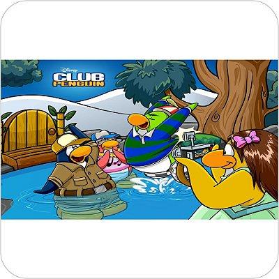 Painel de Festa Infantil Club Penguin no Lago