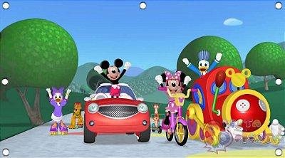 Painel para decoração de festa infantil - Mickey e Minnie