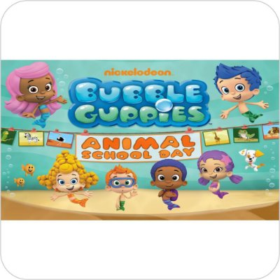 Painel de Festa Infantil Bubble Guppies Animal School Day