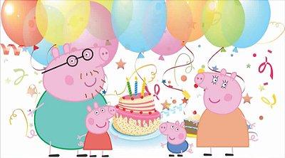 Painel de Aniversario Peppa Pig e Sua Familia