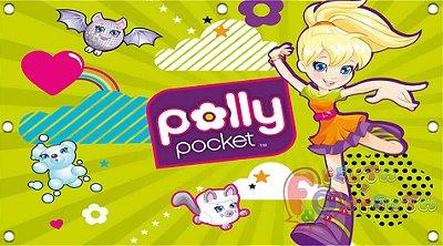 Painel para decoração de festa infantil - Polly Poket