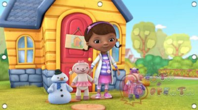 Painel para decoração de festa infantil - Doutora Brinquedos e Turma