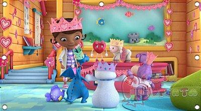 Painel para decoração de festa infantil - Dra Brinquedos e Turma