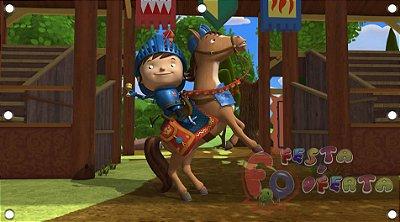 Painel para decoração de festa infantil  -  Mike, o Cavaleiro