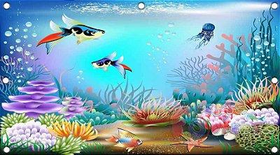 Painel para decoração de festa infantil - Fundo Do Mar