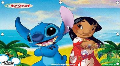Painel para decoração de festa infantil - Lilo e Stitch