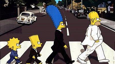 Painel para decoração de festa infantil  - Os Simpsons