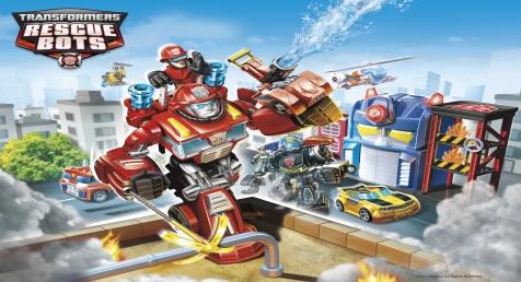 Painel para decoração de festa infantil  -  Transformers Rescue Bots