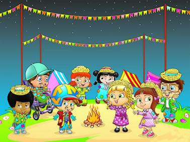 Painel para decoração de festa infantil  - Festa Junina