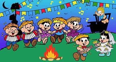 Painel para decoração de festa infantil  - Festa Junina - Turma da Mônica
