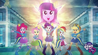 Painel para decoração de festa infantil  -  Equestria Girl com Estrela