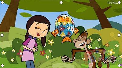 Painel para decoração de festa infantil - Peixonauta