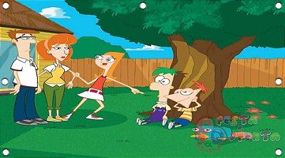 Painel para decoração de festa infantil - Phineas and Ferb