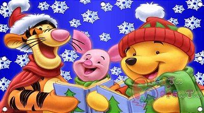 Painel para decoração de festa infantil - Pooh