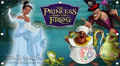 Painel para decoração de festa infantil - Princesa e o Sapo