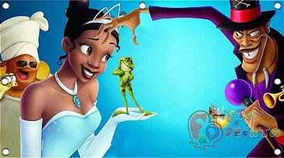 Painel de festa infantil - Princesa e o Sapo