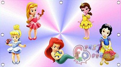 Painel de Festa Princesas Disney Baby