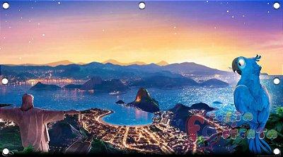 Painel para decoração de festa infantil - Rio