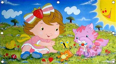 Painel de festa infantil - Moranguinho Baby