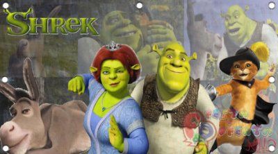Painel para decoração de festa infantil - Shrek