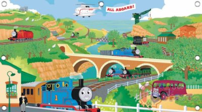 Painel para decoração de festa infantil - Thomas & Friends