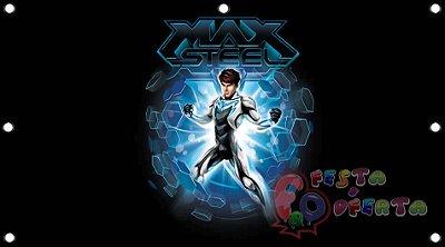 Painel para decoração de festa infantil - Max Steel
