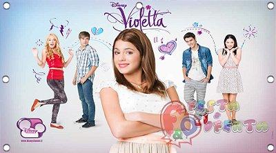 Painel para decoração de festa infantil - Violetta