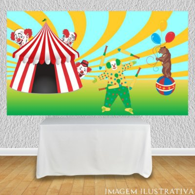 Painel de Festa Infantil Circo - Os Equilibristas