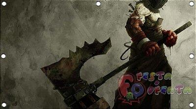Painel para decoração de festa infantil - Resident Evil
