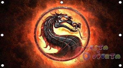 Painel para decoração de festa infantil - Mortal Kombat
