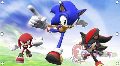 Painel para decoração de festa infantil - Sonic