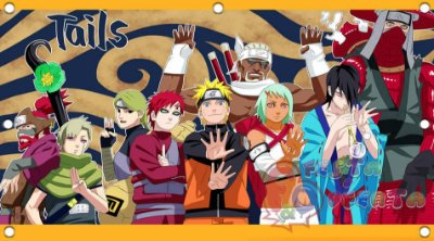 Painel para decoração de festa infantil - Naruto
