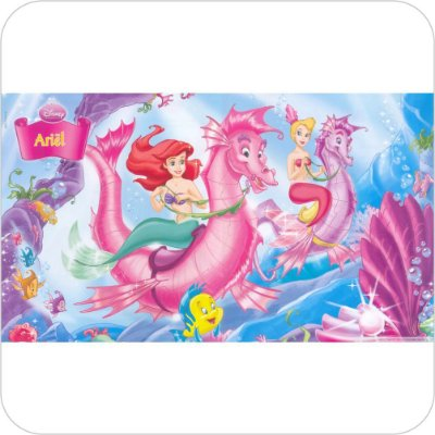 Painel Para Festa Infantil - A Pequena Sereia - Cavalos Marinhos