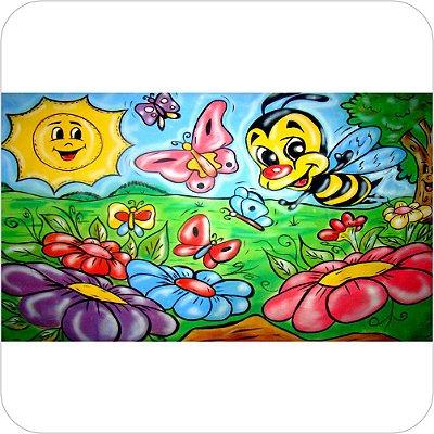 Painel Para Festa Infantil - Abelhinhas Desenhadas