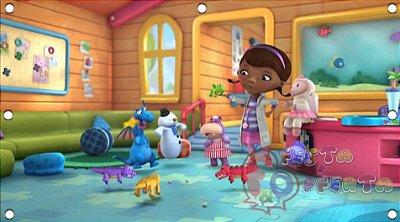 Painel para decoração de festa infantil - Dra Brinquedos
