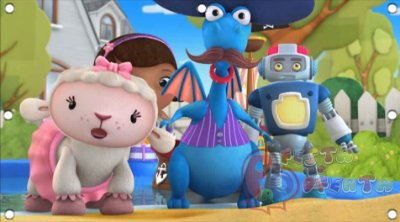 Painel para decoração de festa infantil - Dra Brinquedos e Amigos