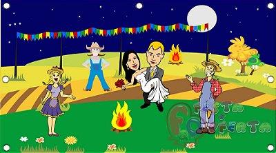Painel para decoração de festa infantil  - Festa Junina Noturna