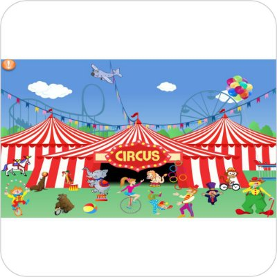 Painel de Festa Infantil Circo - Circus II