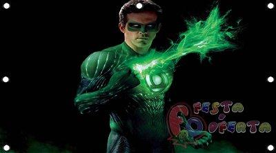 Painel para decoração de festa infantil  - Lanterna Verde