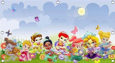 Painel para decoração de festa infantil - Princesas Disney Baby