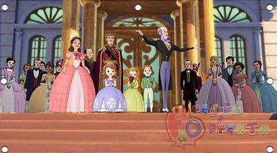Decoração princesa sofia c/ turma toda painel infantil