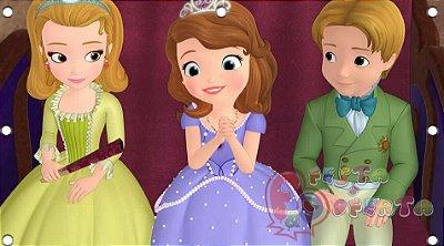 Decoração princesa sofia e seus amigos painel infantil