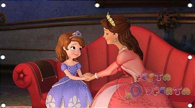 Decoração princesa sofia e a rainha painel infantil