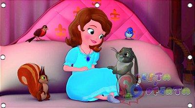 Decoração princesa sofia em seu quarto painel infantil