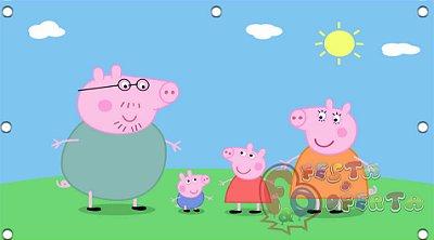 Painel de Festa Peppa Pig e Família