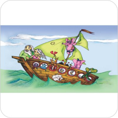 Painel de Festa Infantil Arca de Noé - Barca