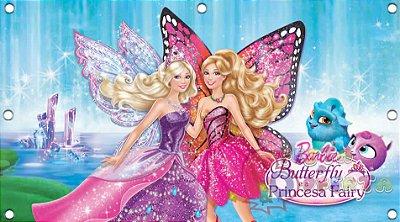 Painel para decoração de festa infantil - Barbie Butterfly