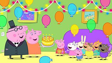 Painel para decoração de festa infantil  -  Peppa Pig